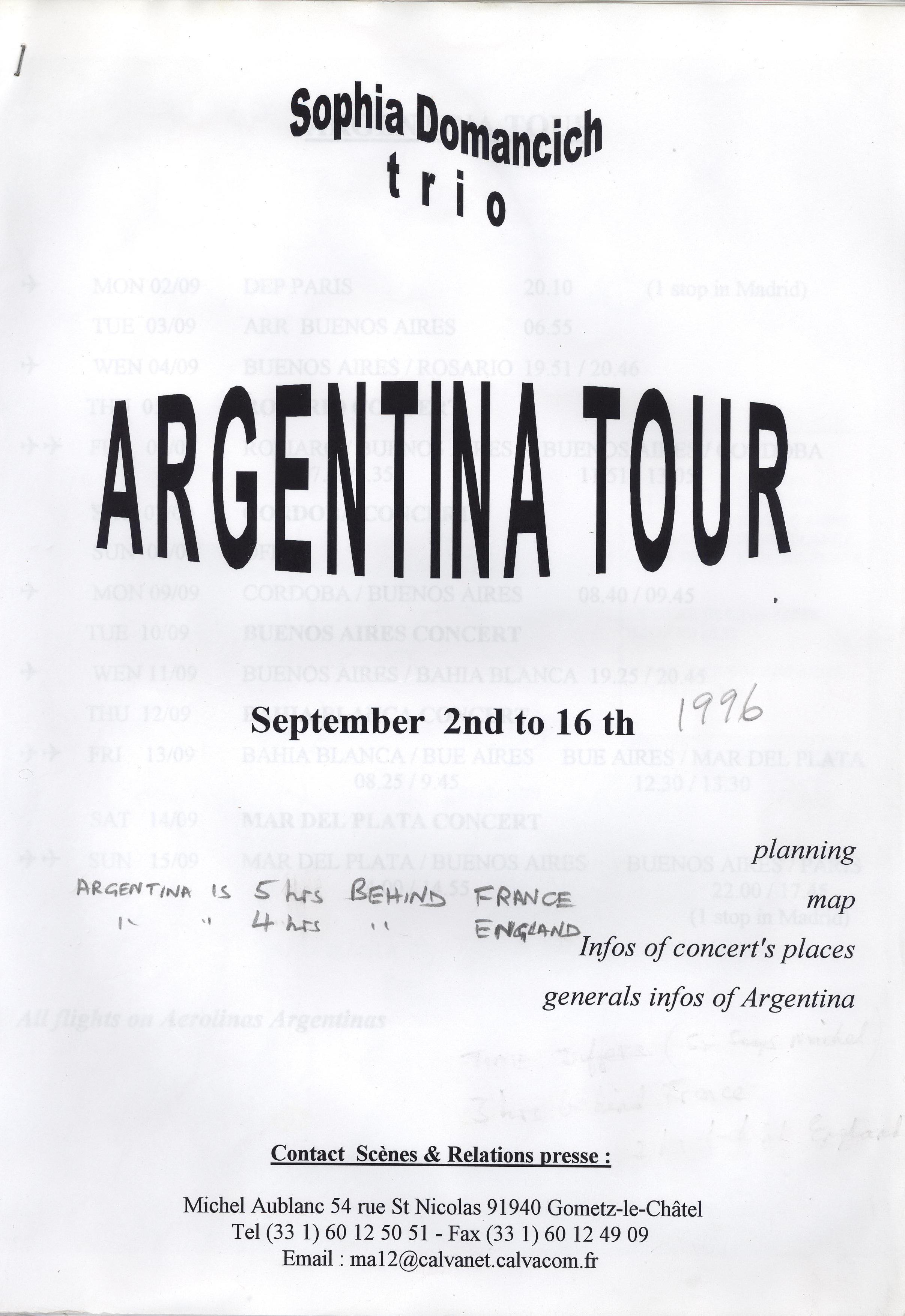 Argentina Tour 1