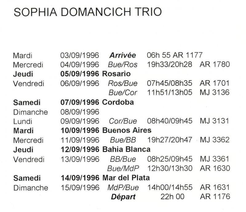 Argentina Tour 2